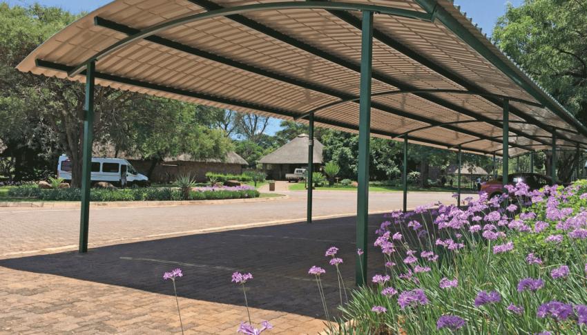 Pretoria Botanical Gardens: Barrel Vault Chromadek Carport