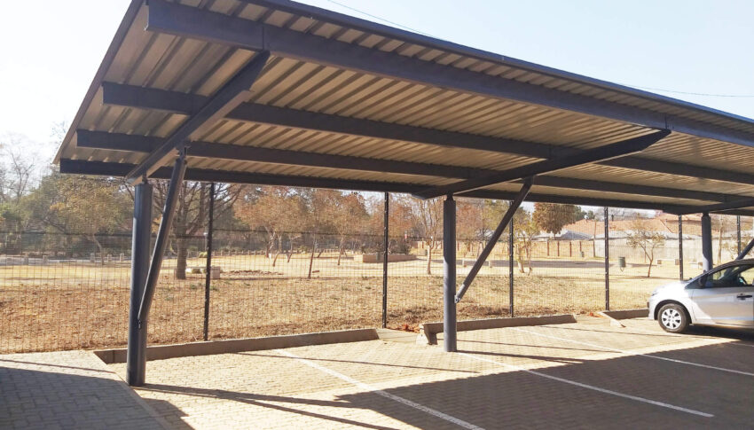 Tundwe Construction: Cantilever Flat Roof Carports