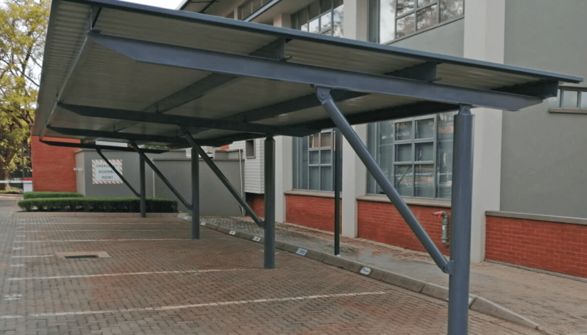 Elmado Property Projects: Strutted Cantilever Carports
